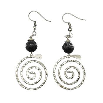 Banjara Spiral with Onyx Earrings