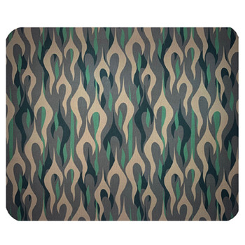 Green Camouflage Flames Mouse Pad Mat