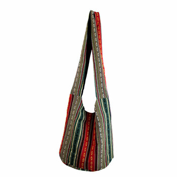 Bohemian Striped Shoulder Sling Bag Purse