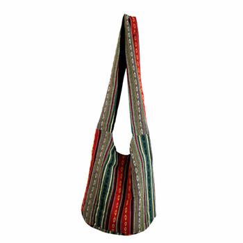 Bohemian Striped Shoulder Sling Bag Purse