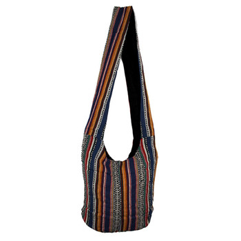 Striped Boho Crossbody Sling Bag Purse