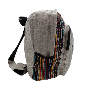 Side view of Tree of Life backpack.