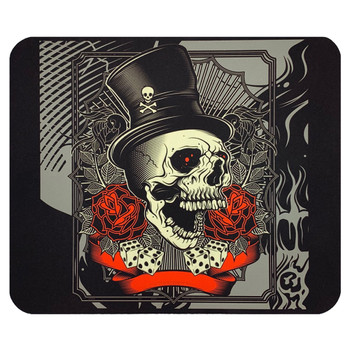 Top Hat Skull and Roses Mouse Pat Mat