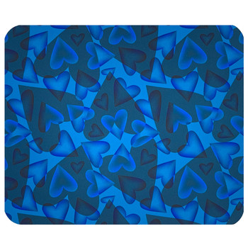 Blue Hearts of Love Mouse Pad Mat