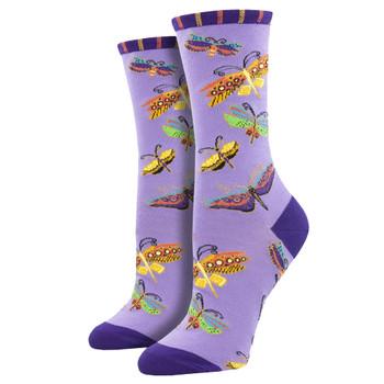 Laurel Burch Butterfly Women's Crew Socks