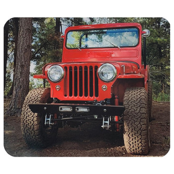 1950 Willys Jeep Mouse Pad Mat