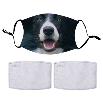 Border Collie Protective Covering Face Mask