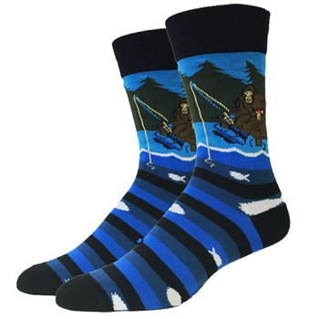 Bigfoot Fishing Men's Crew Socks