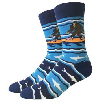 Surfing Bigfoot Men's Crew Socks