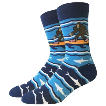 Surfing Bigfoot Men's Crew Socks