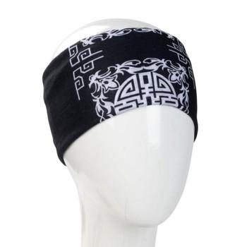 Black mandala bandana headband.