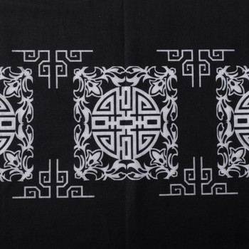 Black and white mandala bandana headband.
