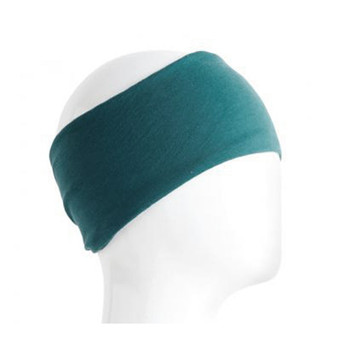 Teal green headband.