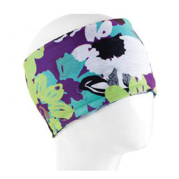 Colorful floral design headband.