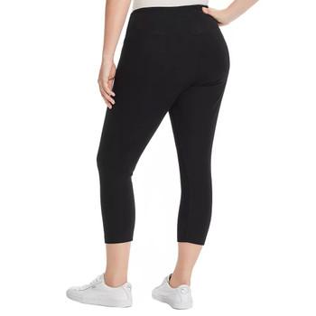 Lysse Plus Cotton Stretch Cropped Leggings back view