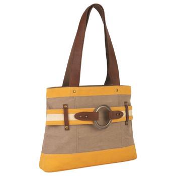 Goldenrod Rowen Canvas Handbag Purse front view