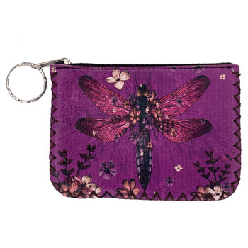 Dragonfly Print Coin Purse