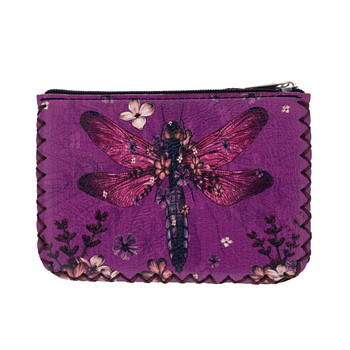 Dragonfly Print Coin Purse back view