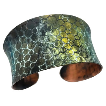 Mermaid Scales Copper Patina Bracelet
