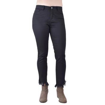 Ethyl Jeans Black Denim Frayed Edges