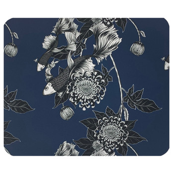 Koi Fish and Flowers Mouse Pad Mat