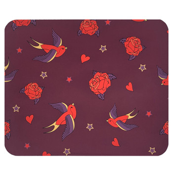 Rockabilly Swallows Mouse Pad Mat