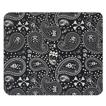 Paisley Skull and Crossbones Mouse Pad Mat
