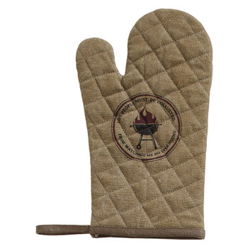 Exhausted Up-Cycled Canvas Oven Mitt