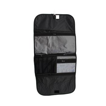 Inside glitter roll up travel bag.