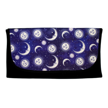Moons and Stars with glitter roll up travel bag.