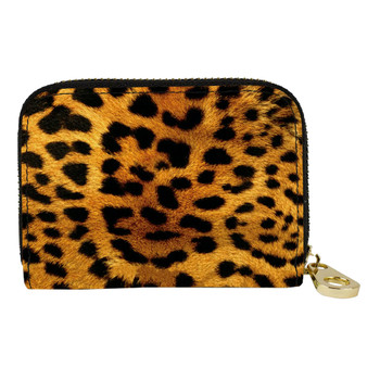 Leopard Animal Print Zippered Wallet