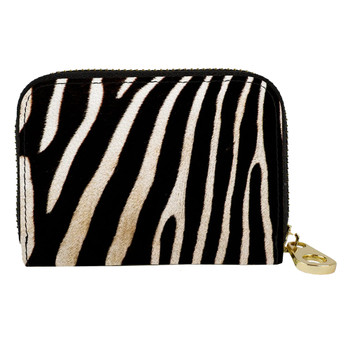 Zebra Animal Print Zippered Wallet