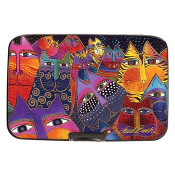 Laurel Burch Cats Armored Wallet inside view