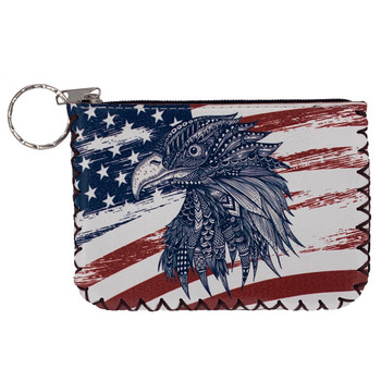 USA Flag Eagle Zippered Coin Purse