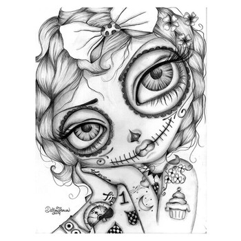 Dottie Gleason - Amelia Day of the Dead - Canvas Art Print