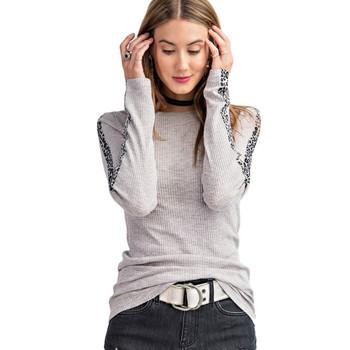 Women's Easel rib knit shirt.