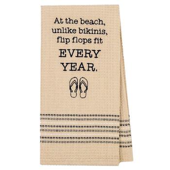 Bikinis and Flip Flops Kitchen Dish Towel
