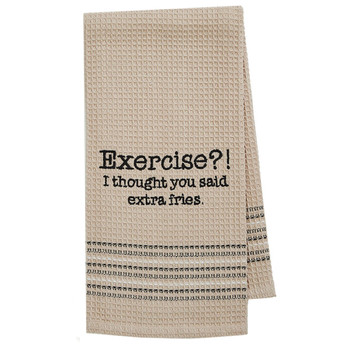 Exercise Kitchen Dish Towel