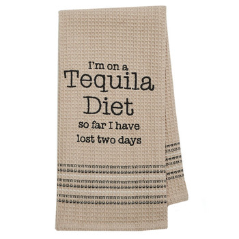 Tequila Diet Kitchen Dish Towel