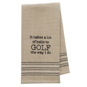 Teed Off Golf Kitchen Dish Towel