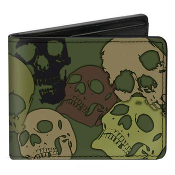 Camo Skull Men's Bi-Fold Wallet