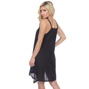 Layering Tank Dress Black back view