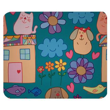 Cartoon Animals Mouse Pad Mat