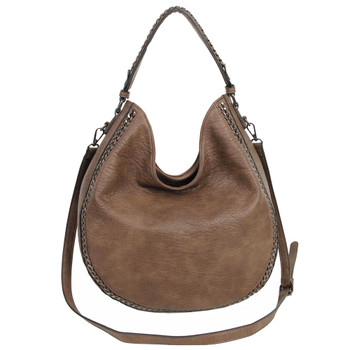 The Dana Hobo Crossbody - Dark Brown