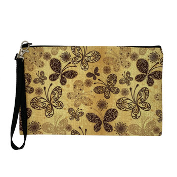 Bohemian Butterfly Wristlet Zippered Pouch