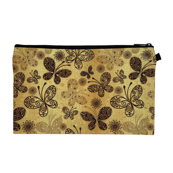Bohemian Butterfly Wristlet Zippered Pouch back view