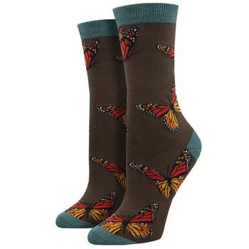 Monarch Butterfly Women's Bamboo Crew Socks