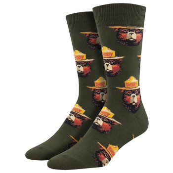 Smokey The Bear Men's Crew Socks