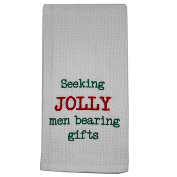 Christmas Jolly Men Kitchen Dishtowel