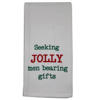 Christmas Jolly Men Kitchen Dishtowel